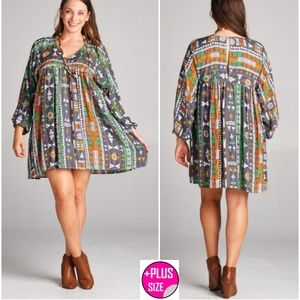 🎀Plus Size 🎀 Geometric Women's Tunic 1X, 2X.